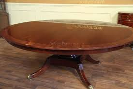Mahogany Furniture Concept Custom American Made Classic 84 Inch Round Dining Table