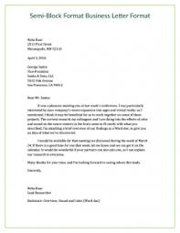 Semi Block Letter Format Business Letter Module 5 Section 1 Business Letter Basics 10 Minutes