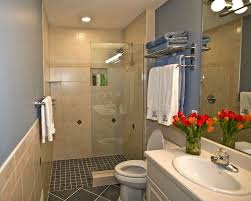 Small Bathroom Shower Stall Ideas by Small Bathroom Walk In Shower No Door Chrome Round Wall Mounted