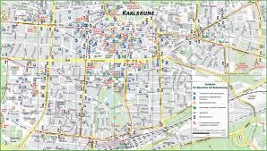 Germany Map Freiburg by Karlsruhe Tourist Map