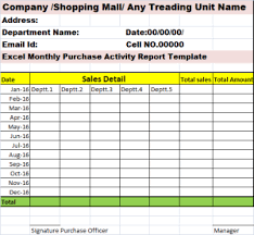 Daily Sales Report Template Excel Free Monthly Activity Report Template Marketing Report Sle Market