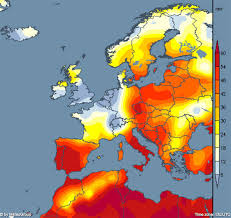 map europ lucifer heatwave mapped where are the temperatures as