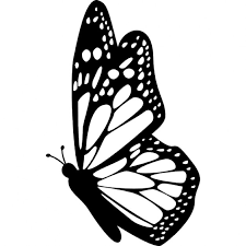 butterfly side view with detailed wings icons free