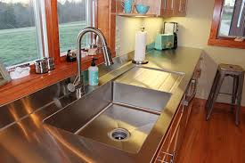 kitchen sink and counter stacia s one piece custom kitchen stainless steel sink and counter
