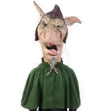goat head halloween mask the nightmare collection schnoz goblin costume buycostumes com