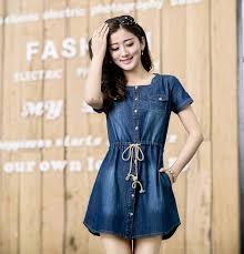 new 2016 fashion women denim dresses ladies jeans dress for summer