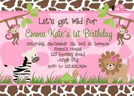 30th Birthday Invitation Cards Jungle Themed 1st Birthday Invitations Jungle 1st Birthday