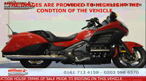 honda gl1800 b d goldwing bagger abs www motorbikeauctioneers