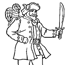 parrot coloring pages pirate with parrot coloring page coloringcrew com