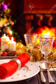 Christmas Decoration Table Candle A Romantic Christmas Dinner Table Setting With Candles And Christmas