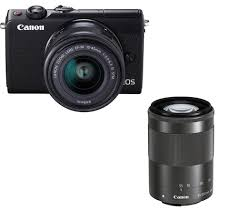 buy canon eos m100 mirrorless camera with ef m 15 45 mm u0026 55 200