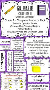 go math 5th grade chapter 11 resource packet geometry and volume