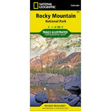 Rocky Mountain Map 200 Rocky Mountain National Park Trail Map National Geographic Store