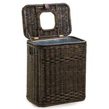Small Waste Basket by Lidded Wicker Laundry Hampers The Basket Lady