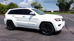 jeep srt rims 2014 jeep grand cherokee overland w srt vapor 20 u0027s youtube