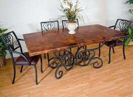 wrought iron dining table set wrought iron dining table legs metal legs trestle base square