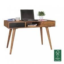 Massivholz Schreibtisch Buche Finebuy Schreibtisch 120 X 60 X 75 Cm Massiv Holz Laptoptisch