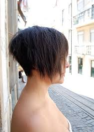 hair that is asymetric in back asymmetric bob haircut for summer side view of trendy short bob
