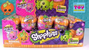 shopkins halloween surprise pumpkins 2 pack glow in the dark