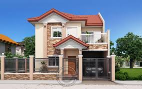two storey house andres two storey house with firewall house designs