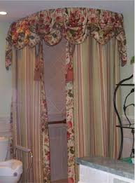 elegant shower curtains with valance extraordinary curtain view in gallery ceiling fabric tassel 27
