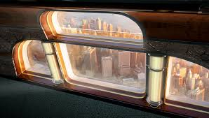 these two business jet interiors from embraer abound in art deco
