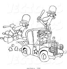 cartoon cars coloring pages vector of a cartoon thief stealing a police car coloring page
