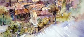 must see urban watercolor paintings from different artists