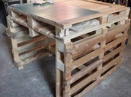 table de cuisine en palette une table de travail en palettes palettes