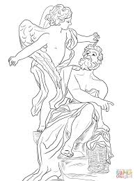 habakkuk and the angel coloring page free printable coloring pages