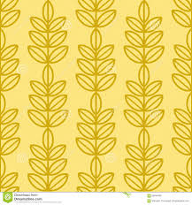 yellow wrapping paper ash tree leaves seamless vector pattern vintage style and colors