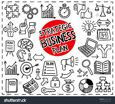 doodle strategic business plan set freehand stock vector 332197748