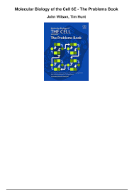 molecular biology of the cell 6e the problems book pdf