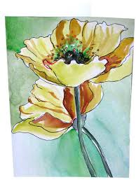 painting greeting cards in watercolor painted poppy watercolor greeting cards flower note c flickr