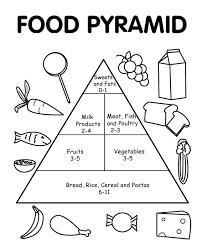 sensational idea food pyramid coloring free printable food