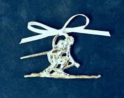 skier ornament etsy