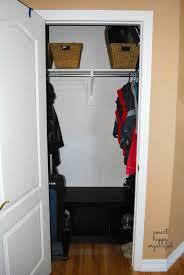 diy organizer series coat closet clean out autumn leopold