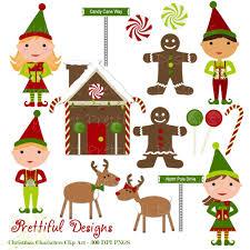 christmas characters clip art elf elves gingerbread