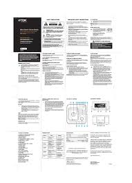 tdk ta4217 clock radio user manual 1 page