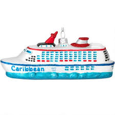 personalized cruise ship with glitter glass ornament bronner s