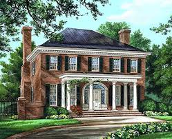 georgian style house plans plan 32590wp majestic traditional home plan georgian front