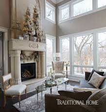 harmonious holiday hues in a midwestern home traditional home