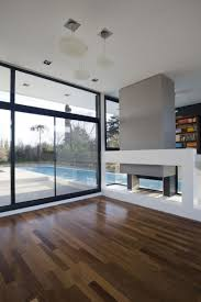 architecture sliding window simple modern house design with black