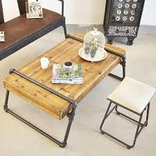 iron and wood side table american country wrought iron wood coffee table living room sofa
