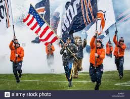 Flag Football Chicago Chicago Bears American Football Fans And Mounted Chicago Police