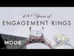 engagement rings 100 100 years of engagement ring trends in less than three minutes
