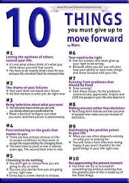 10 things you must give up to move forward lifelong learning