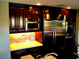 Small Kitchens With Dark Cabinets by Dark Cupboards In Kitchen Amazing Home Design