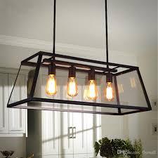 Pendant Lights For Living Room Loft Pendant Lamp Retro American Industrial Black Iron Glass