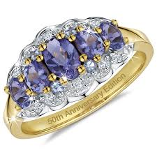 tanzanite rings from images Fifty years of tanzanite 18ct gold plated silver ring danbury mint jpg
